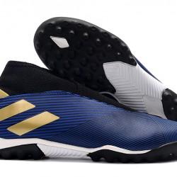 Adidas Nemeziz 19.3 Laceless TF Blue Black Gold 39-45