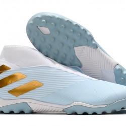 Adidas Nemeziz 19.3 Laceless TF Blue White Gold 39-45