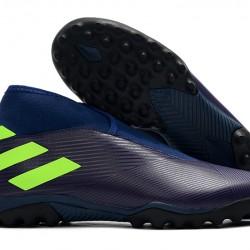 Adidas Nemeziz 19.3 Laceless TF Purple Green 39-45