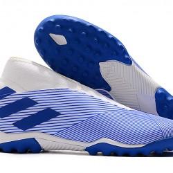 Adidas Nemeziz 19.3 Laceless TF White Blue 39-45