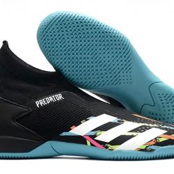Adidas Predator 20.3 Laceless IN Black Blue White 39-45