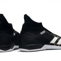 Adidas Predator 20.3 Laceless IN Black Gold White 39-45