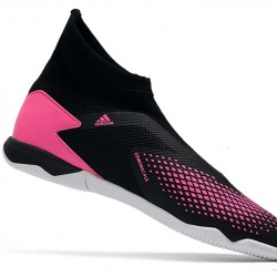 Adidas Predator 20.3 Laceless IN Black Pink 39-45