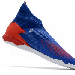 Adidas Predator 20.3 Laceless IN Blue Red White 39-45