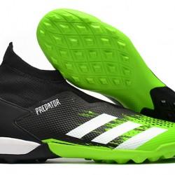 Adidas Predator 20.3 Laceless TF Black Green White 39-45