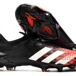 Adidas Predator Mutator 20.1 Low FG Black Red Silver 39-45