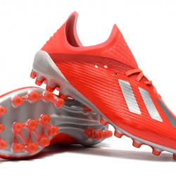 Adidas X 19.1 AG Red Silver 39-45