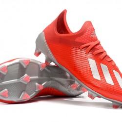 Adidas X 19.1 FG Red Silver 39-45