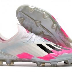 Adidas X 19.1 FG White Pink Black 35-45