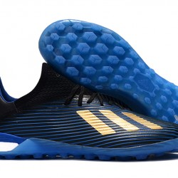 Adidas X 19.1 TF Blue Gold Black 39-45