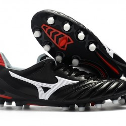 Mizuno Morelia Neo II Made in Japan Black Silver Red 39-45