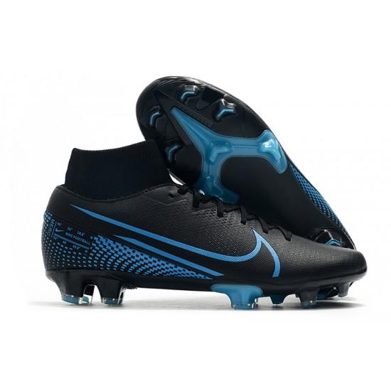 Nike Mercurial 7 Elite FG Black Blue 39-45