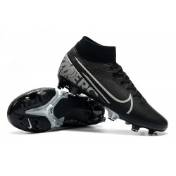 Nike Mercurial 7 Elite FG Black Silver 39-45