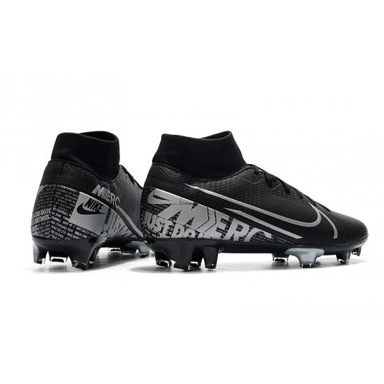Nike Mercurial 7 Elite FG Black Silver 39-45