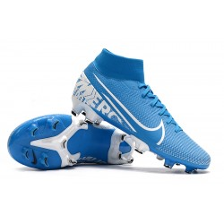 Nike Mercurial 7 Elite FG Blue Silver 39-45
