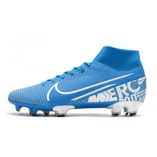 Nike Mercurial 7 Elite FG Blue Silver 39-45