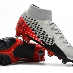 Nike Mercurial 7 Elite FG Silver Black Red 39-45