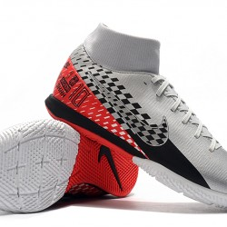 Nike Mercurial Superfly VII Academy IC Silver Black Red 39-45