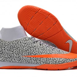 Nike Mercurial Superfly VII Academy IC White Black Orange 39-45