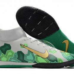Nike Mercurial Superfly VII Academy IC White Green Gold 39-45