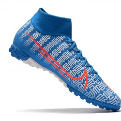 Nike Mercurial Superfly VII Academy TF Blue White Red 39-45