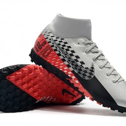Nike Mercurial Superfly VII Academy TF Silver Black Red 39-45