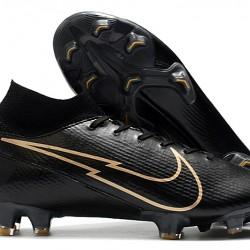 Nike Mercurial Superfly 7 Elite FG Black Gold 39-45