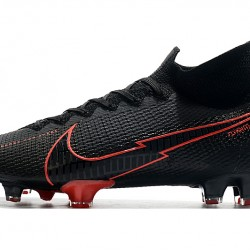 Nike Mercurial Superfly 7 Elite FG Black Red 39-45