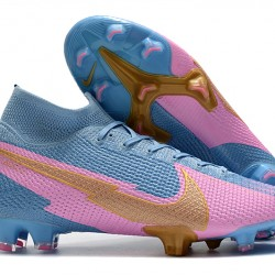 Nike Mercurial Superfly 7 Elite FG Blue Pink 39-45