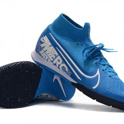 Nike Mercurial Superfly 7 Elite MDS IC Blue White 39-45