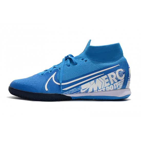 Nike Mercurial Superfly 7 Elite MDS IC Blue White 39-45