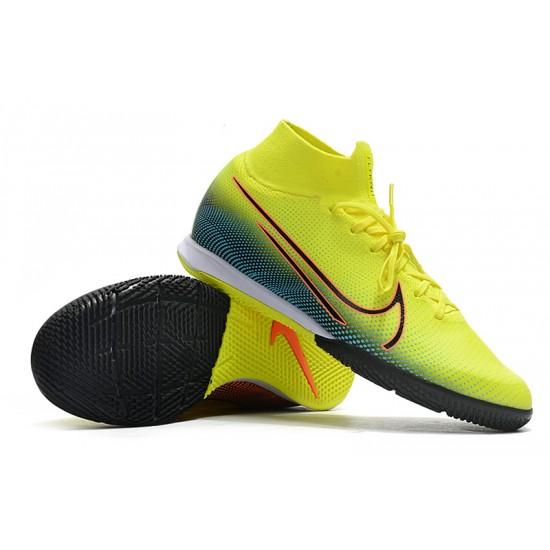 Nike Mercurial Superfly 7 Elite MDS IC Green Blue Orange 39-45