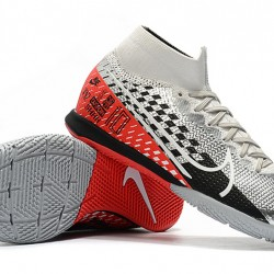 Nike Mercurial Superfly 7 Elite MDS IC Silver Black Red 39-45