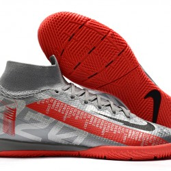 Nike Mercurial Superfly 7 Elite MDS IC Silver Red 39-45