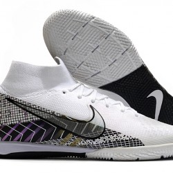 Nike Mercurial Superfly 7 Elite MDS IC White Black 39-45