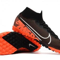 Nike Mercurial Superfly 7 Elite MDS TF Black Orange White 39-45