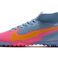 Nike Mercurial Superfly 7 Elite MDS TF Blue Pink Orange 39-45