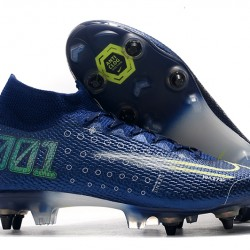 Nike Mercurial Superfly 7 Elite SG-PRO AC Blue White Green 39-45