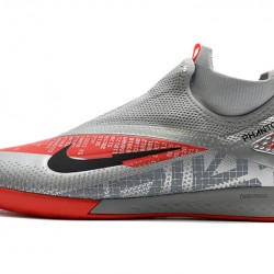 Nike React Phantom Vision 2 Pro Dynamic Fit IC Grey Red 39-45