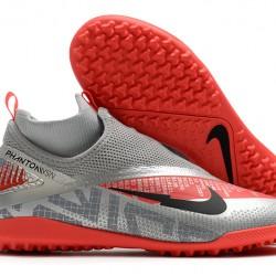 Nike React Phantom Vision 2 Pro Dynamic Fit TF Grey Red 39-45