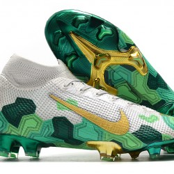 Nike Superfly 7 Elite SE FG White Green Gold 35-45
