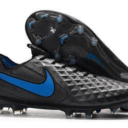 Nike Tiempo Legend 8 Elite FG Black Blue 39-45