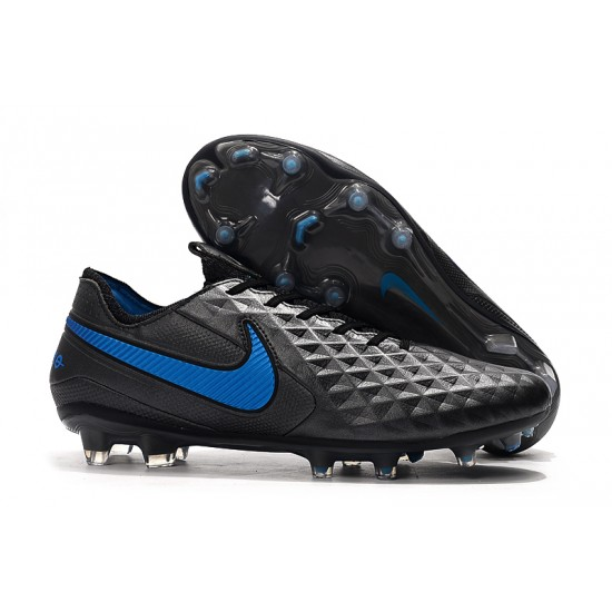 Nike Tiempo Legend 8 Elite FG Black Blue 39-45