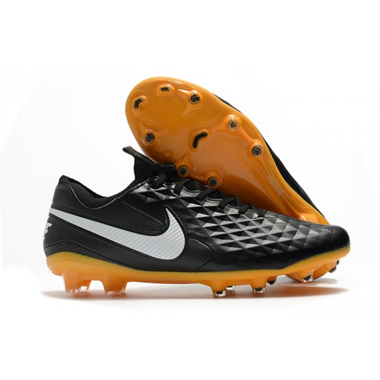 Nike Tiempo Legend 8 Elite FG Black Grey 39-45