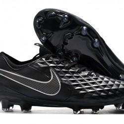Nike Tiempo Legend 8 Elite FG Black Silver 39-45