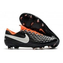Nike Tiempo Legend 8 Elite FG Black Silver Orange 39-45