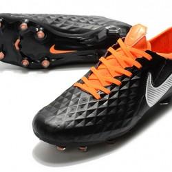 Nike Tiempo Legend 8 Elite FG Black Silver Orange 39-45