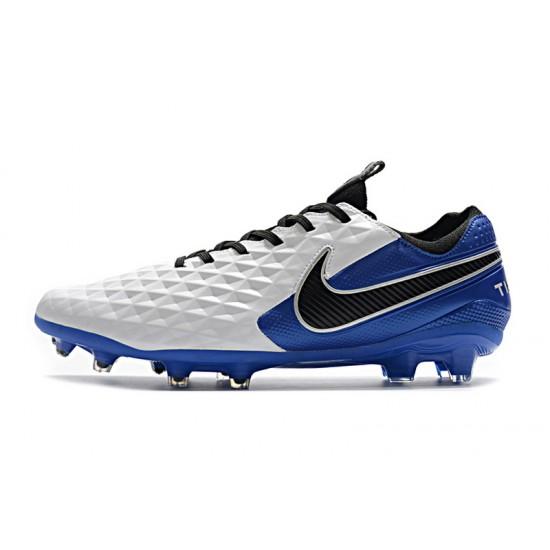 Nike Tiempo Legend 8 Elite FG White Blue Black 39-45