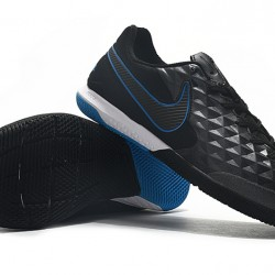 Nike Tiempo Lunar Legend VIII Pro IC Black Blue 39-45